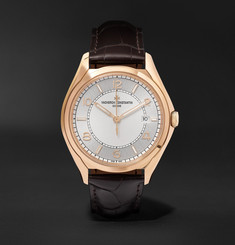 Vacheron Constantin Fiftysix Automatic 40mm 18-Karat Pink Gold and Alligator Watch