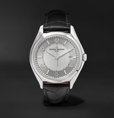 Vacheron Constantin - Fiftysix Automatic 40mm Stainless Steel and Alligator Watch