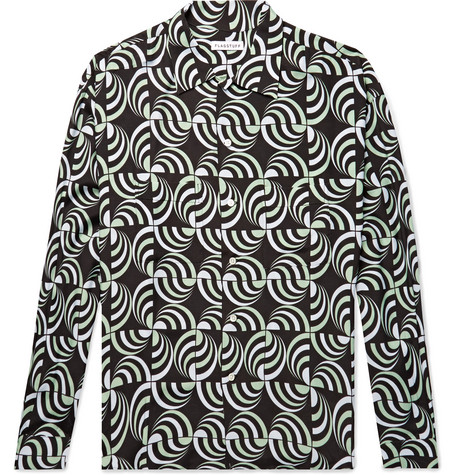 FLAGSTUFF Printed Woven Shirt in Black