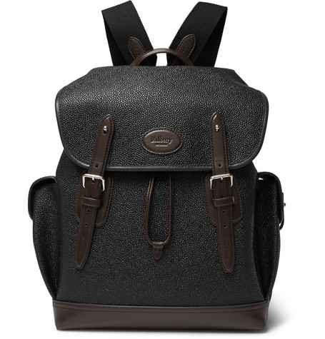 e064d4754f norway mens bags men mulberry 73b63 2d56e  inexpensive mulberry heritage  leather trimmed pebble grain coated canvas backpack dbf83 ff369