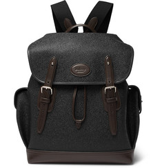 Mulberry - Heritage Leather-Trimmed Pebble-Grain Coated-Canvas Backpack