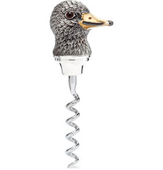 Asprey - Oxidised Sterling Silver Duck Corkscrew