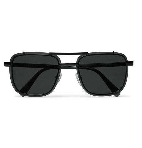 3aac1890c44 ... shopping prada square frame metal and acetate sunglasses 29090 e4fea