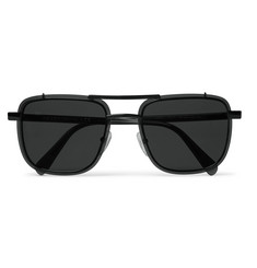 Prada - Square-Frame Metal and Acetate Sunglasses
