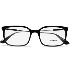 Prada Square-Frame Acetate and Gunmetal-Tone Optical Glasses
