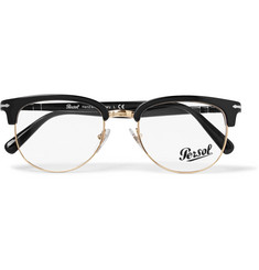 Persol D-Frame Acetate and Gold-Tone Optical Glasses