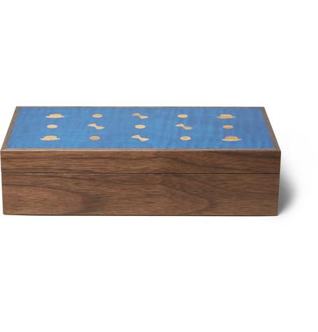 LINLEY WOODEN CUFFLINK BOX