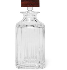 Linley Trafalgar Glass and Rosewood Whisky Decanter