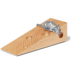 Linley - Mr Mouse Oak and Pewter Doorstop