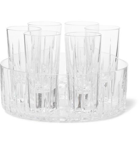 LINLEY TRAFALGAR SHOT GLASS AND COOLER SET