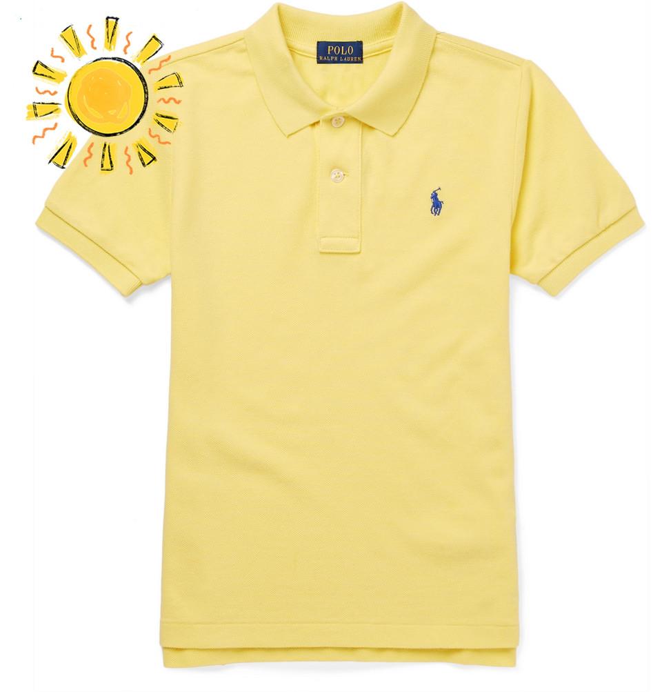 Billede af Boys Ages 2 - 10 Cotton-piqué Polo Shirt - Yellow