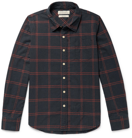 REMI RELIEF CHECKED COTTON-BLEND SHIRT