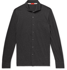 Isaia Slim-Fit Mélange Cotton Shirt