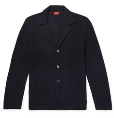 Isaia Slim-Fit Textured Merino Wool Cardigan