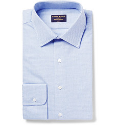 Emma Willis Slim-Fit Puppytooth Brushed-Cotton Shirt
