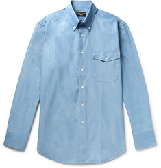 Emma Willis Slim-Fit Button-Down Collar Cotton-Chambray Shirt