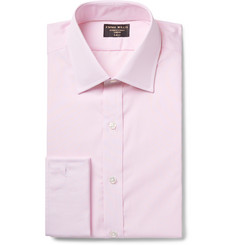 Emma Willis Pink Slim-Fit Double-Cuff Striped Cotton Shirt