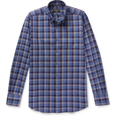 Emma Willis Button-Down Checked Brushed-Cotton Shirt