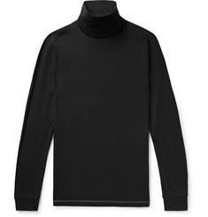 Theory Slim-Fit Cotton and Cashmere-Blend Rollneck T-Shirt