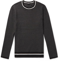 Theory Kortes Striped Ribbed-Knit Sweater