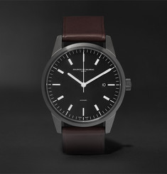 Maurice de Mauriac - L1 42mm Coated Stainless Steel and Leather Watch