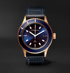 Maurice de Mauriac L2 42mm Bronze and Leather Watch