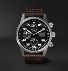 Maurice de Mauriac Zurich Chronograph 42mm Stainless Steel and Leather Watch, Ref. No. ZURICH WATCH
