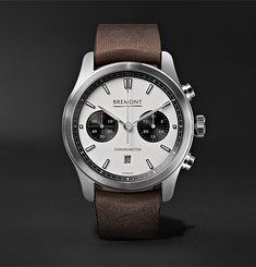 Bremont ALT1-C Automatic Chronograph 43mm Stainless Steel and Leather Watch, Ref. No. ALT1-C/WH-BK