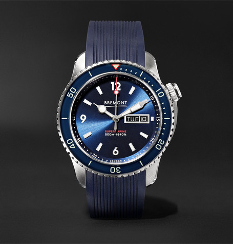 Bremont Supermarine S500 Automatic 43mm Stainless Steel and Rubber Watch