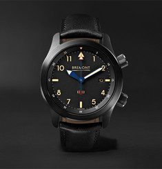 Bremont - U-2/51-JET Automatic 43mm Stainless Steel and Leather Watch