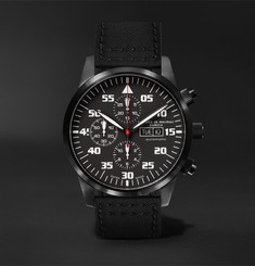 Maurice de Mauriac Zurich Chronograph 45mm PVD-Coated Stainless Steel and Kevlar Watch