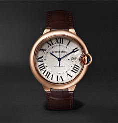Cartier Ballon Bleu de Cartier Automatic 42mm 18-Karat Pink Gold and Alligator Watch