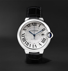 Cartier Ballon Bleu Automatic 42mm Stainless Steel and Alligator Watch