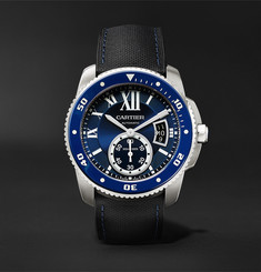 Cartier Calibre de Cartier Diver Automatic 42mm Stainless Steel and Leather Watch