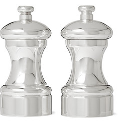 Soho Home Audley Silver-Plated Salt and Pepper Grinder Set