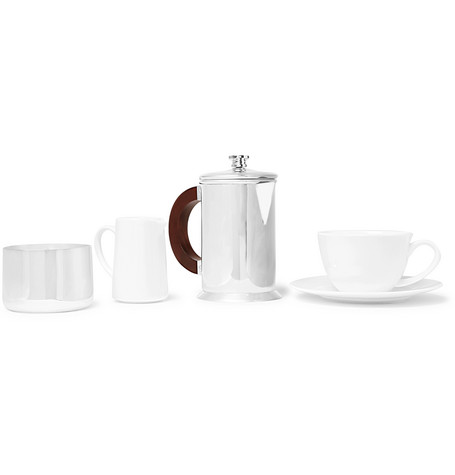 SOHO HOME AUDLEY SILVER-PLATED COFFEE FOR ONE SET
