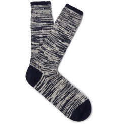 The Workers Club - Mélange Merino Wool and Nylon-Blend Socks