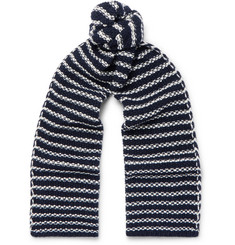 The Workers Club Striped Merino Wool Scarf