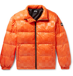 Stüssy Appliquéd Checkerboard Shell Down Jacket