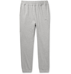 Stüssy Tapered Mélange Loopback Cotton-Jersey Sweatpants