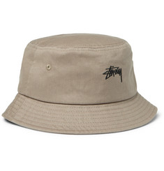 Stüssy Logo-Embroidered Cotton-Canvas Bucket Hat