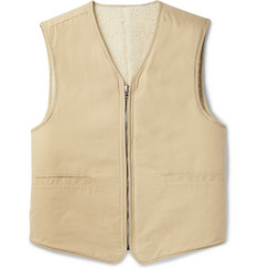 Our Legacy Reversible Cotton and Wool-Blend Sherpa Gilet