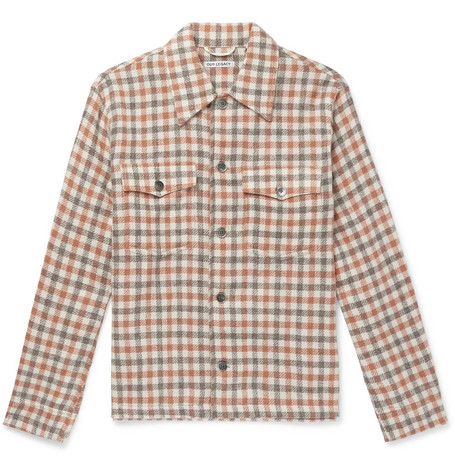 OUR LEGACY OVERSIZED CHECKED ALPACA AND WOOL