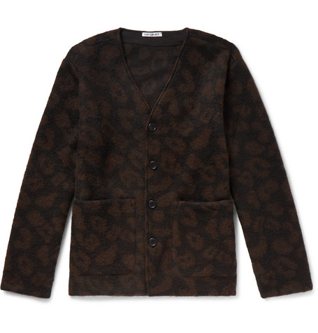 Leopard Jacquard Knit Cardigan by Our Legacy