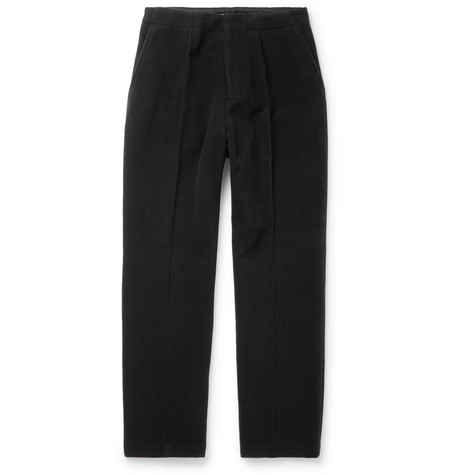 OUR LEGACY | Our Legacy - Black Borrowed Wide-leg Wool-blend Trousers - Black | Goxip