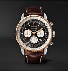 Breitling Navitimer 1 Chronograph 46mm Steel, Red Gold and Crocodile Watch