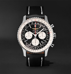 Breitling - Navitimer 01 Chronograph 43mm Stainless Steel and Leather Watch