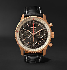 Breitling Navitimer 1 Chronometer 46mm 18-Karat Red Gold and Crocodile Watch