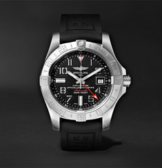 Breitling - Avenger II GMT Automatic 43mm Steel and Rubber Watch