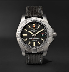 Breitling - Avenger Blackbird Automatic 44mm Titanium and Canvas Watch